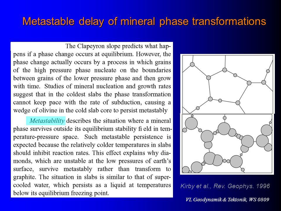 VL Geodynamik & Tektonik, WS 0809 Kirby et al., Rev.