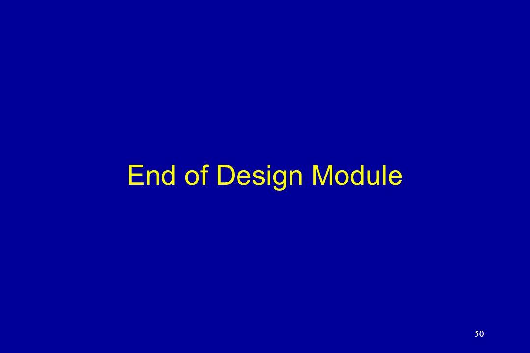 50 End of Design Module 50