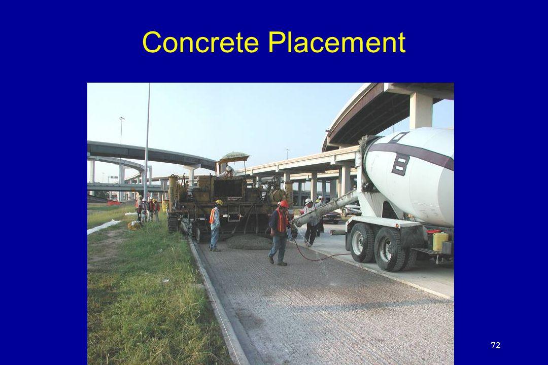 72 Concrete Placement 72