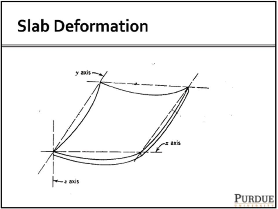 Computations using Influence Charts These charts can be used for any shape of contact area and any wheel/axle/gear configuration The bending moment is obtained about point O in the direction n.