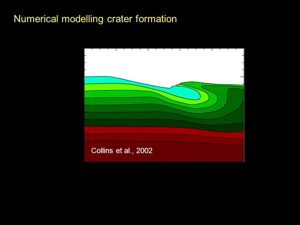 Numerical modelling crater formation Morgan et al., 2000 Collins et al., 2002