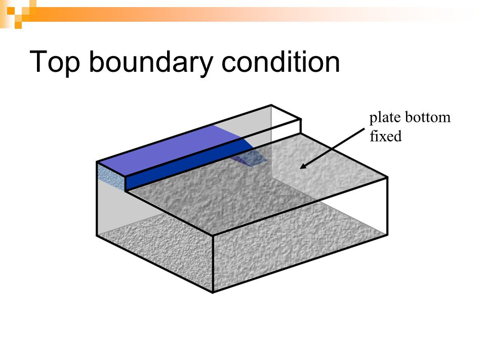 Top boundary condition plate bottom fixed