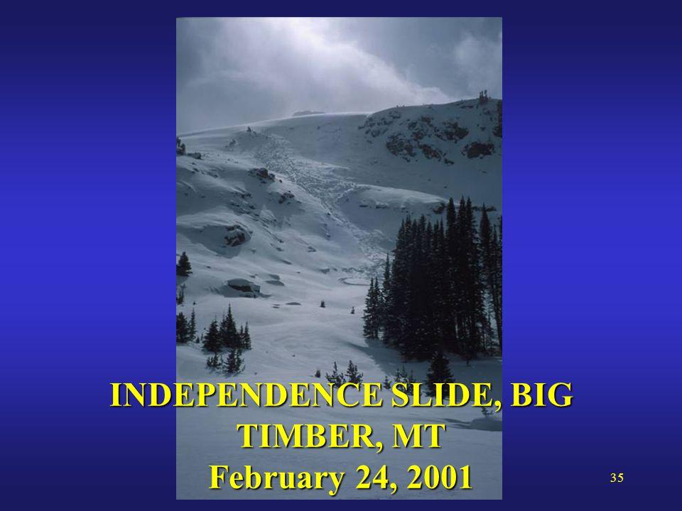 35 INDEPENDENCE SLIDE, BIG TIMBER, MT February 24, 2001