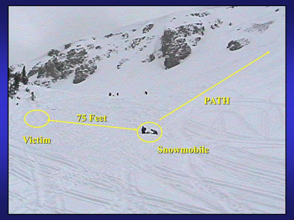 54 PATH Snowmobile Victim 75 Feet
