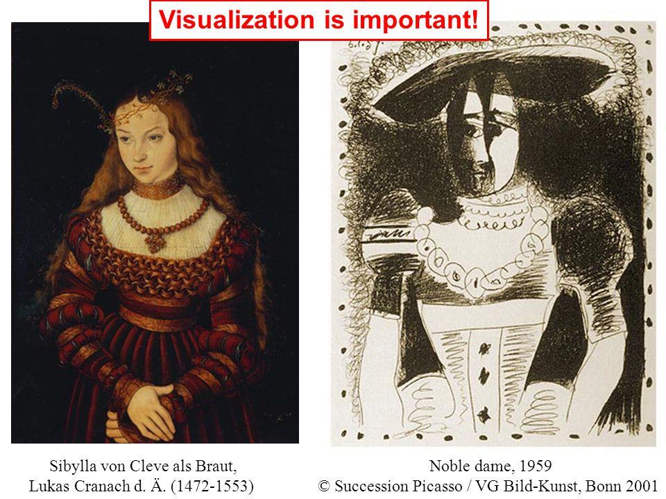 Noble dame, 1959 © Succession Picasso / VG Bild-Kunst, Bonn 2001 Sibylla von Cleve als Braut, Lukas Cranach d. Ä. (1472-1553) Visualization is importa