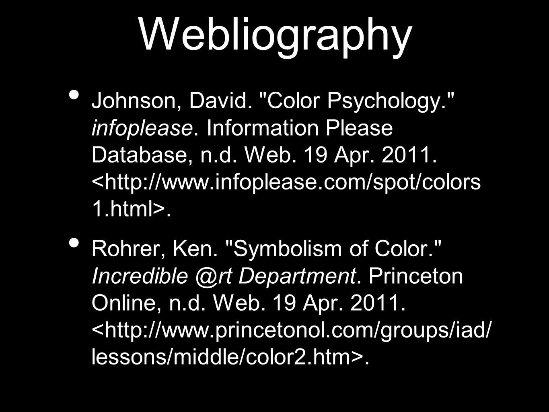 Webliography Johnson, David.
