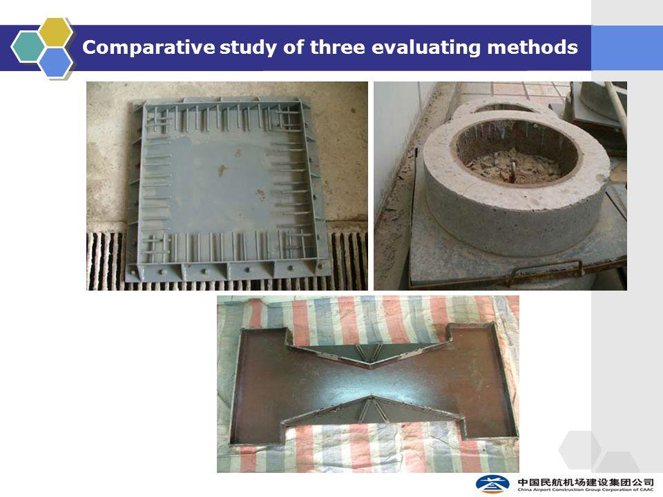 Comparative study of three evaluating methods