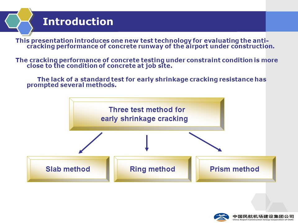 Introduction This presentation introduces one new test technology for evaluating the anti- cracking performance of concrete runway of the airport under construction.