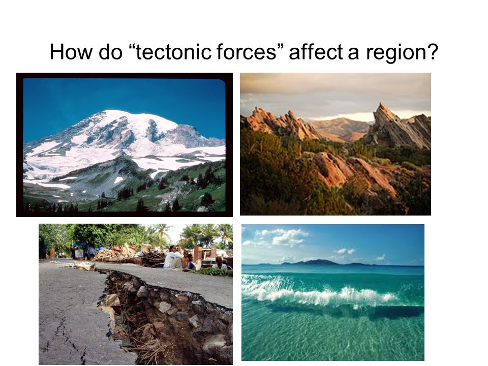 "How do ""tectonic forces"" affect a region?"