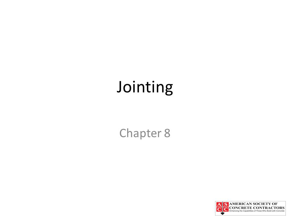 Jointing Chapter 8