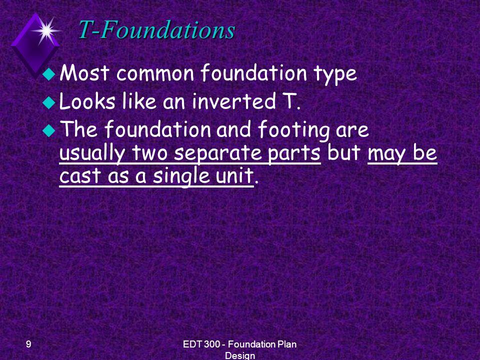 10EDT 300 - Foundation Plan Design Slab Foundations u slab floor.