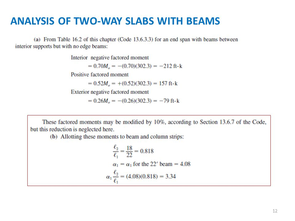 ANALYSIS OF TWO-WAY SLABS WITH BEAMS 12