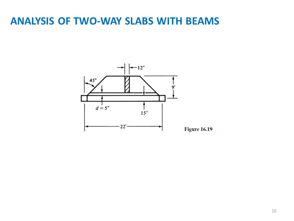 ANALYSIS OF TWO-WAY SLABS WITH BEAMS 16
