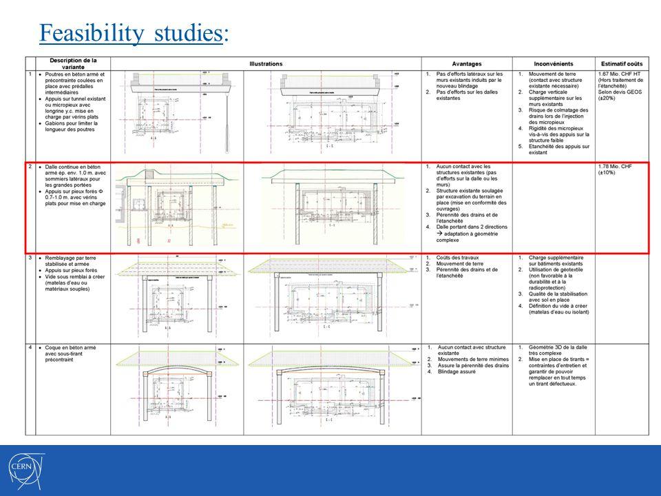 Feasibility studies: