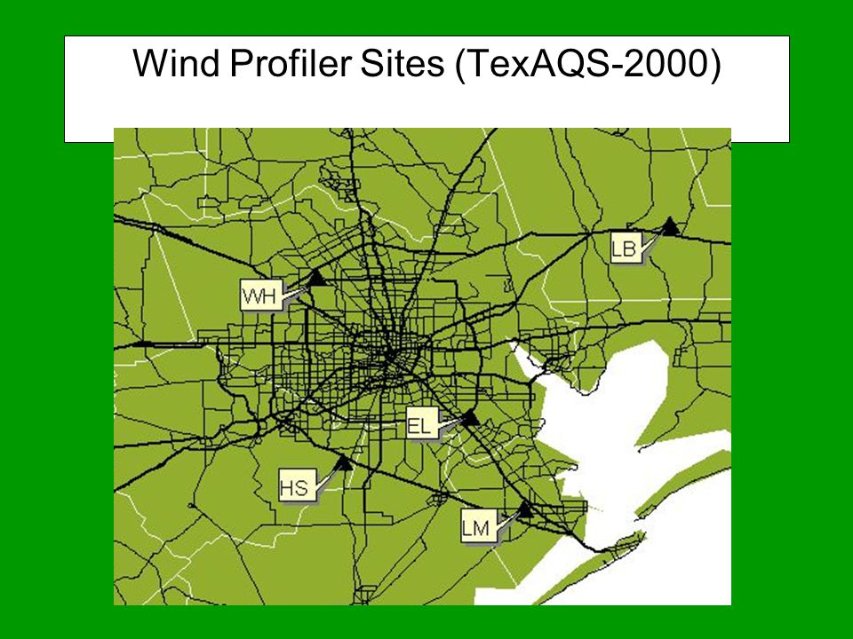 Wind Profiler Sites (TexAQS-2000)