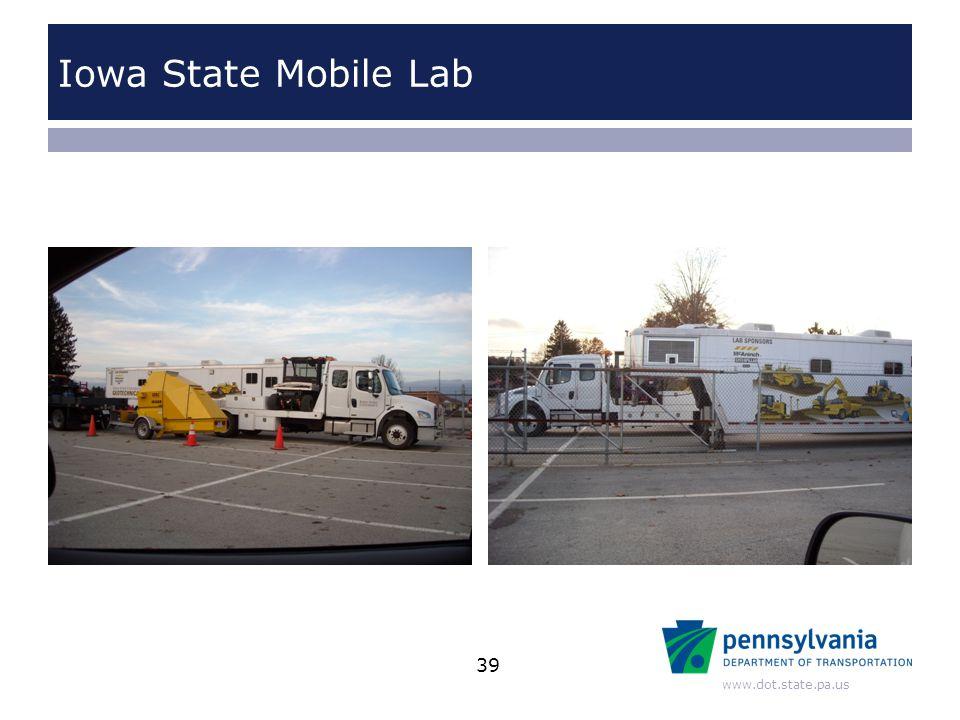 www.dot.state.pa.us Iowa State Mobile Lab 39