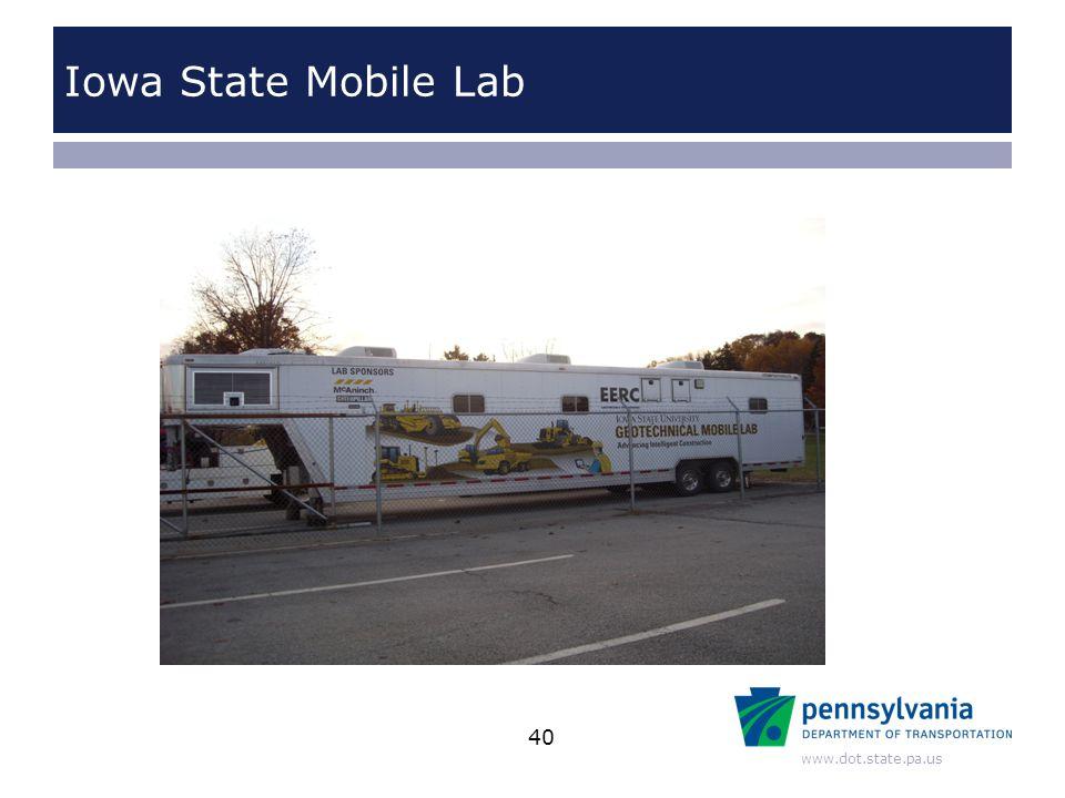 www.dot.state.pa.us Iowa State Mobile Lab 40