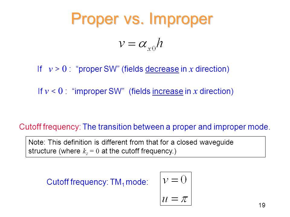 Proper vs.