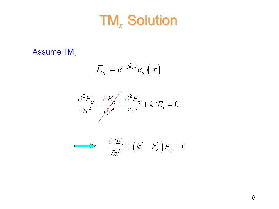 TM x Solution Assume TM x 6
