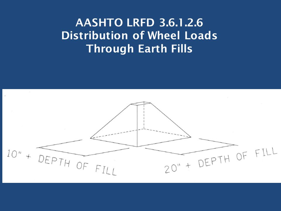 AASHTO LRFD 3.6.1.2.6 Distribution of Wheel Loads Through Earth Fills