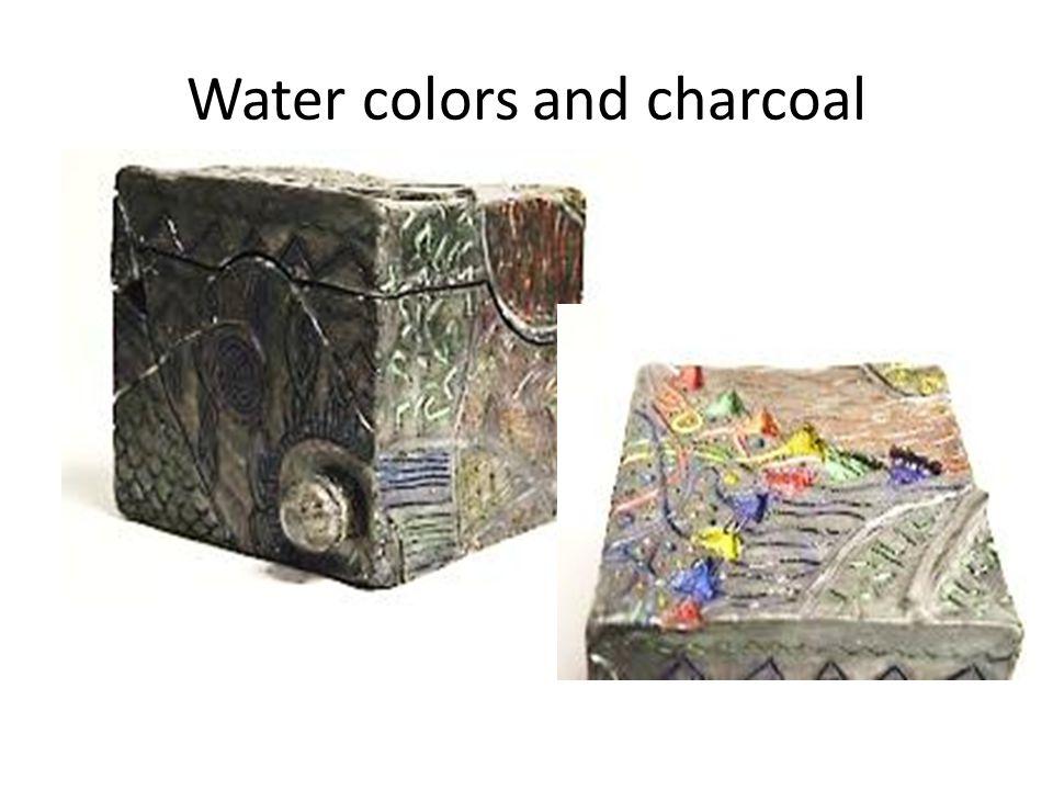 Charcoal, chalk, marker