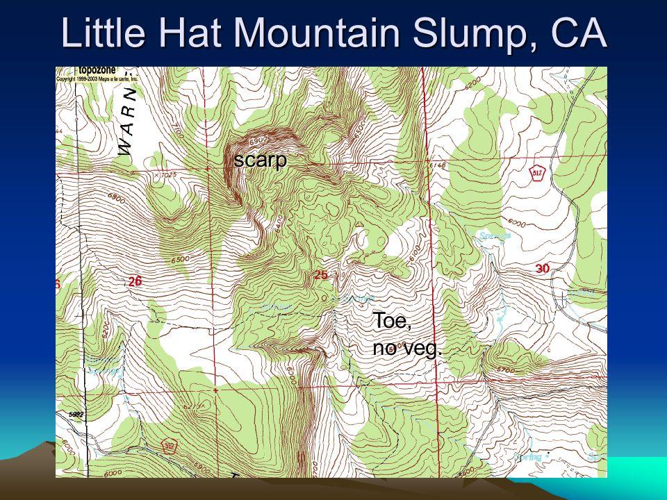 Little Hat Mountain Slump, CA scarp Toe, no veg.