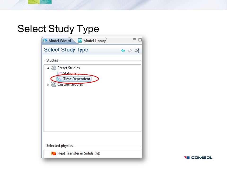 Select Study Type