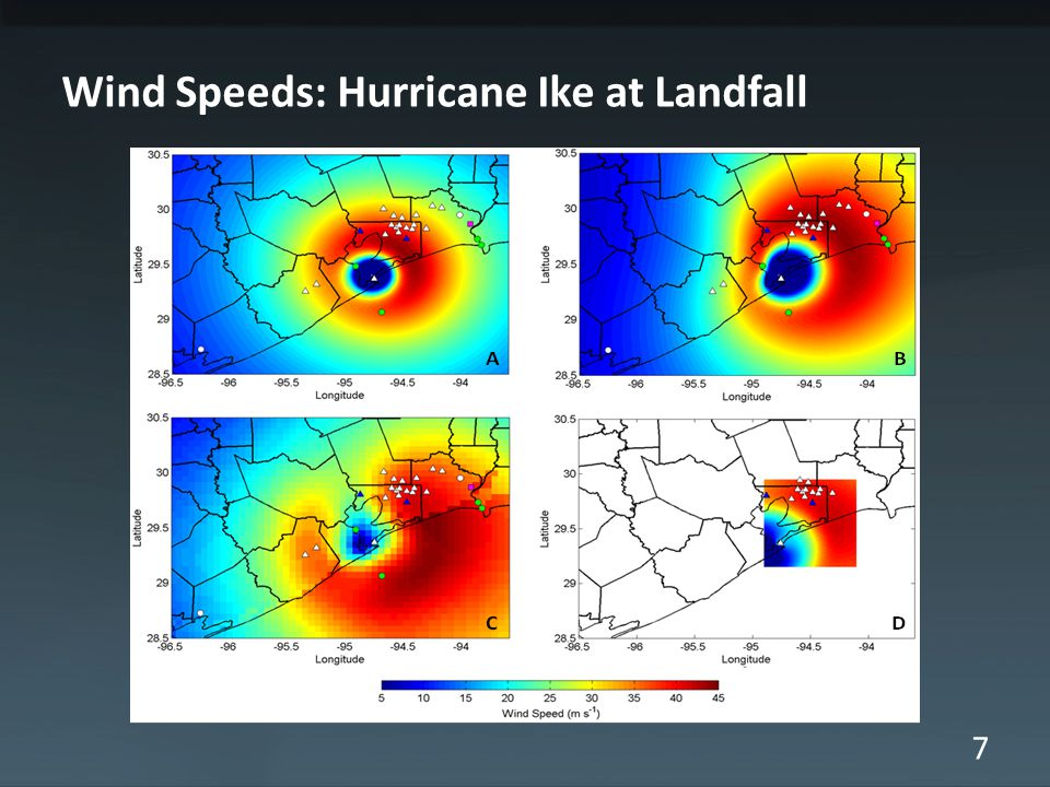 7 Wind Speeds: Hurricane Ike at Landfall