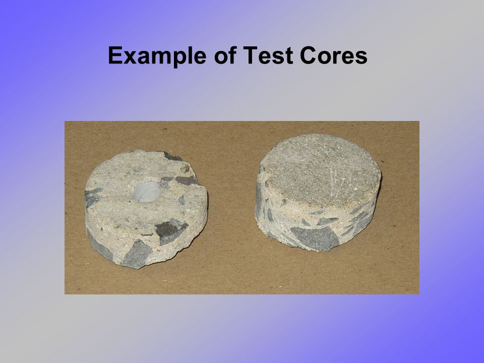 Example of Test Cores