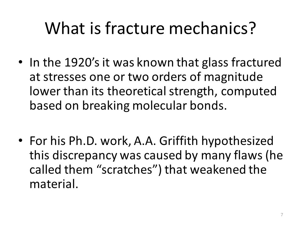 What is fracture mechanics.