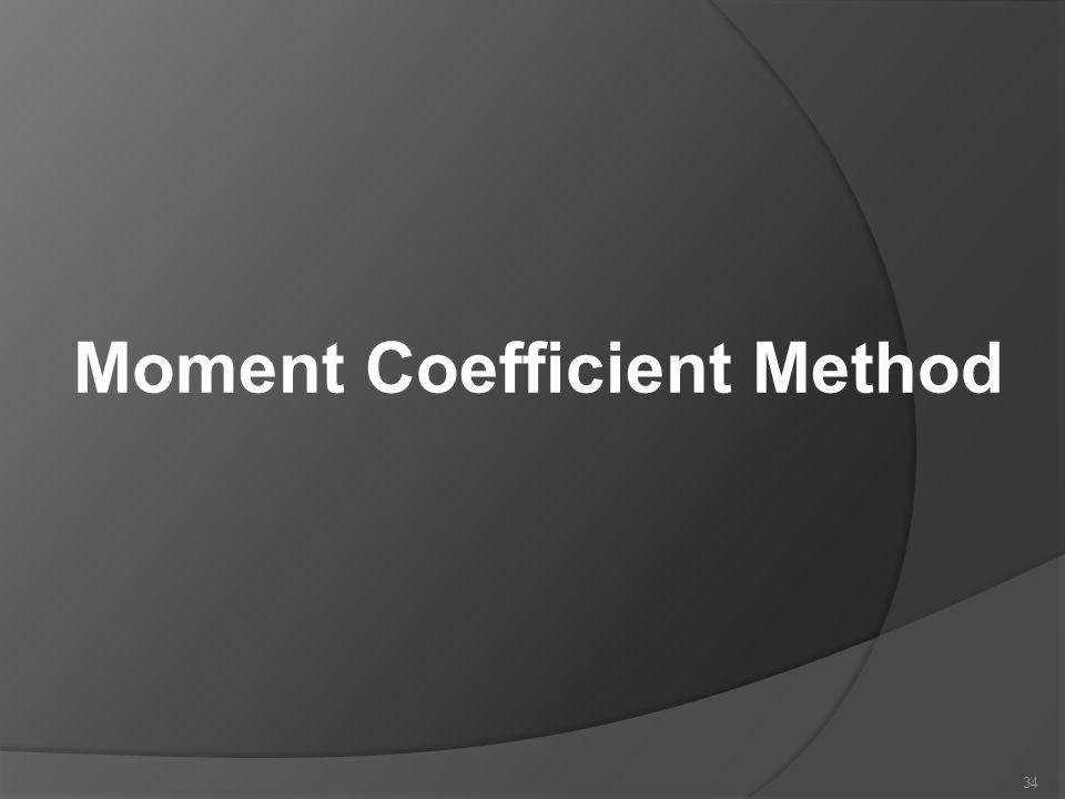 Moment Coefficient Method 34