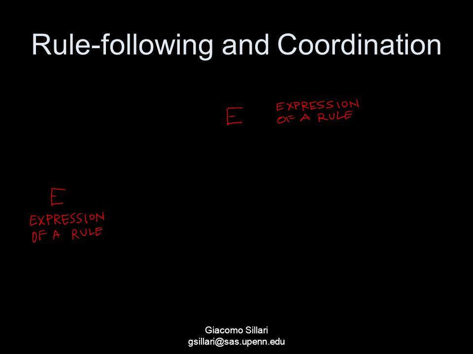 Giacomo Sillari gsillari@sas.upenn.edu Rule-following and Coordination