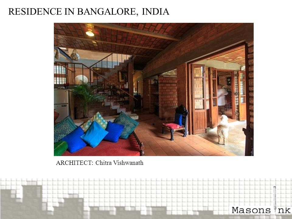 RESIDENCE IN BANGALORE, INDIA ARCHITECT: Chitra Vishwanath