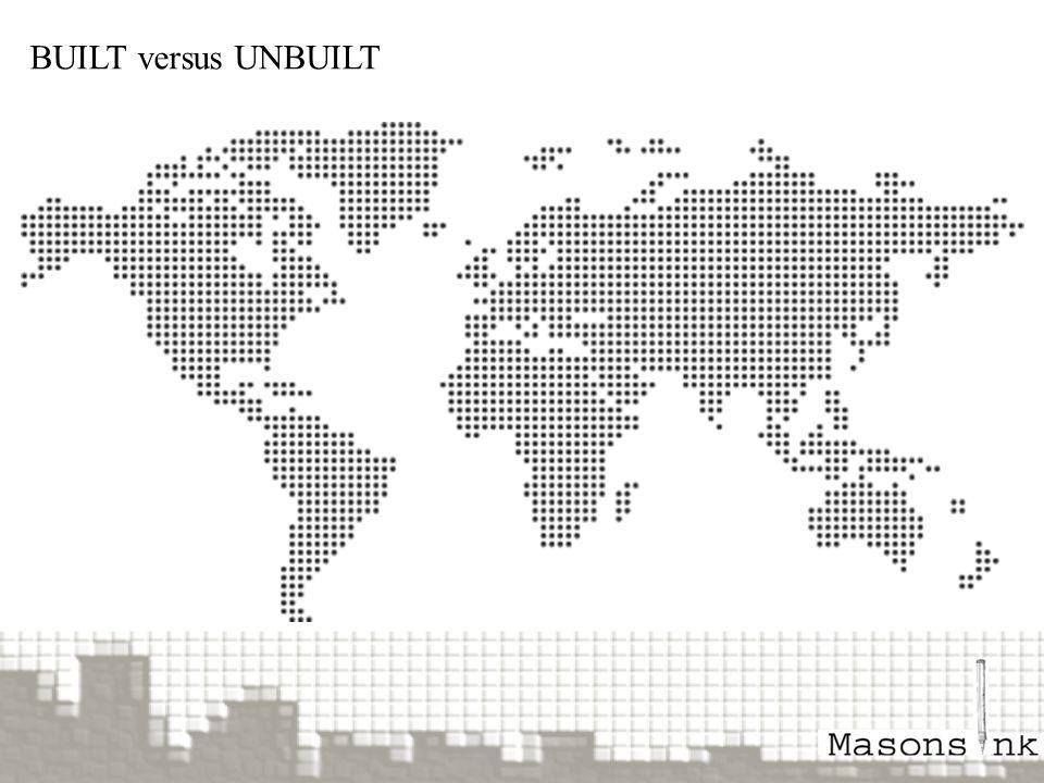BUILT versus UNBUILT