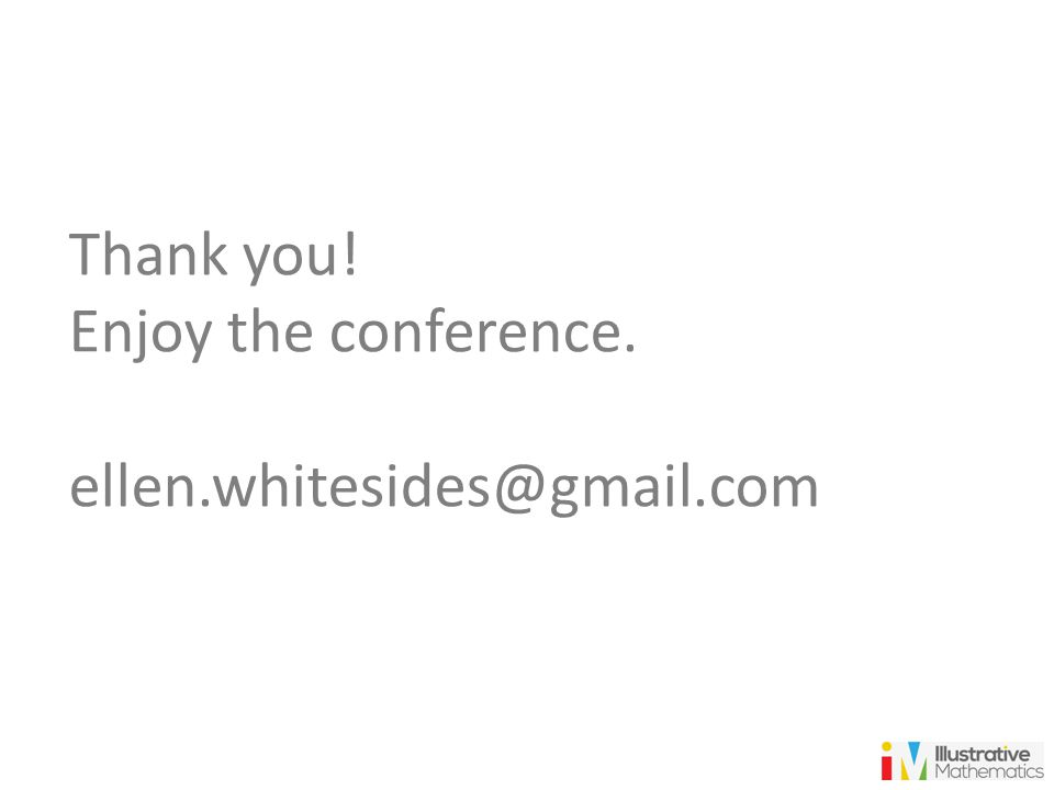 Thank you! Enjoy the conference. ellen.whitesides@gmail.com