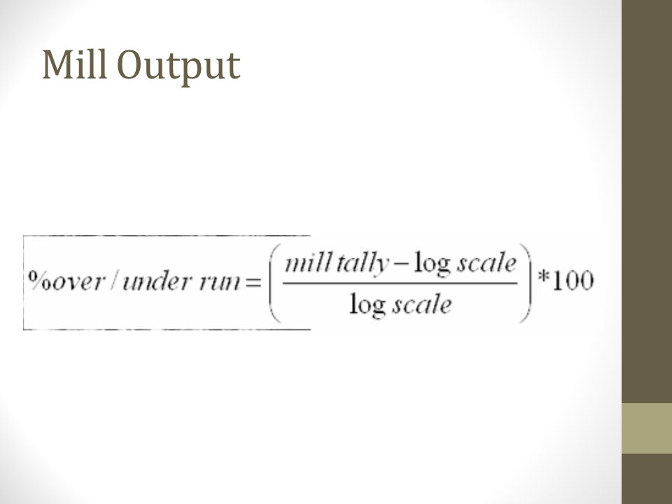Mill Output