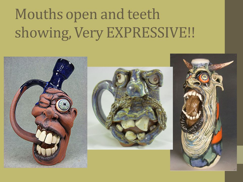 Mouths open and teeth showing, Very EXPRESSIVE!!