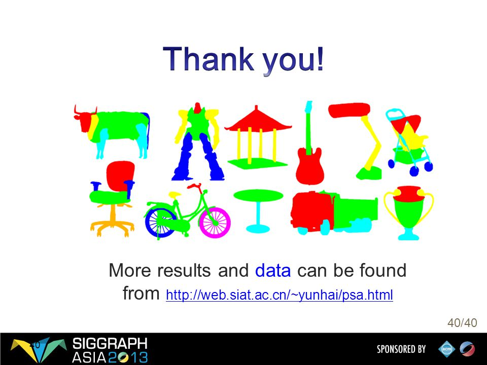 40/40 40 More results and data can be found from http://web.siat.ac.cn/~yunhai/psa.html http://web.siat.ac.cn/~yunhai/psa.html