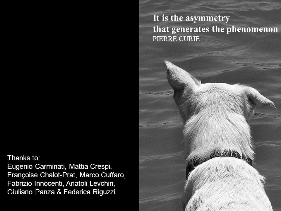 It is the asymmetry that generates the phenomenon PIERRE CURIE Thanks to: Eugenio Carminati, Mattia Crespi, Françoise Chalot-Prat, Marco Cuffaro, Fabrizio Innocenti, Anatoli Levchin, Giuliano Panza & Federica Riguzzi