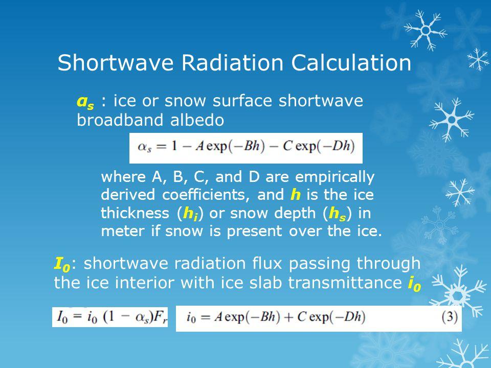 Long-wave Radiation F l up : upward long-wave radiation flux F l dn : downward long-wave radiation flux in clear-sky conditions F l dn : downward long-wave radiation flux in cloudy conditions C is cloud fraction
