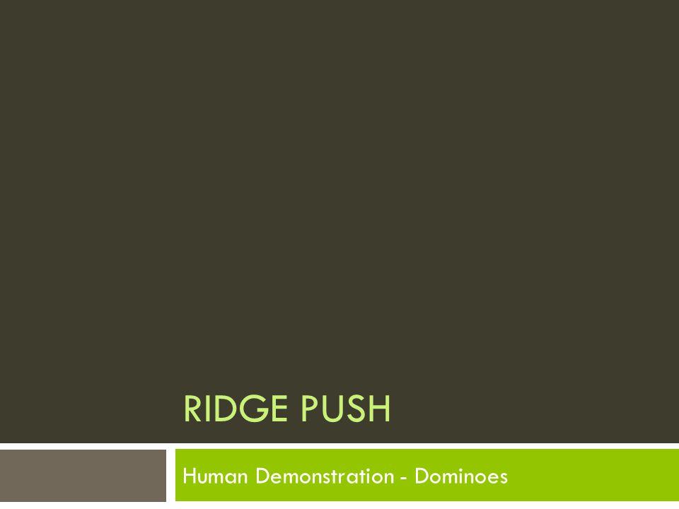 RIDGE PUSH Human Demonstration - Dominoes