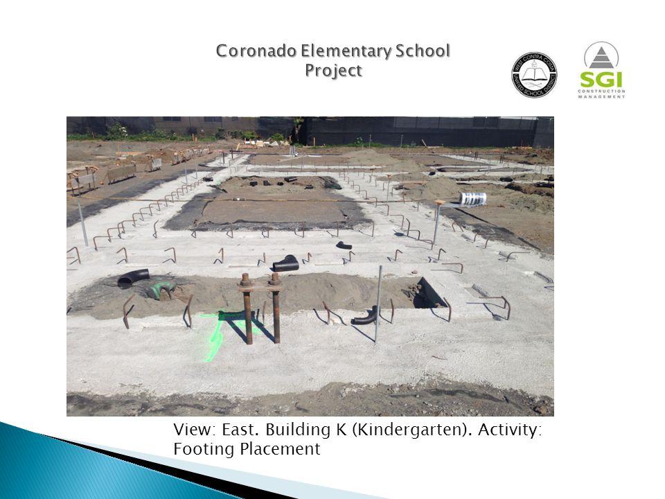 View: East. Building K (Kindergarten).