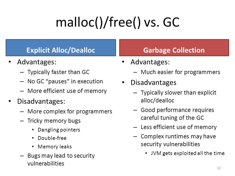 malloc()/free() vs.