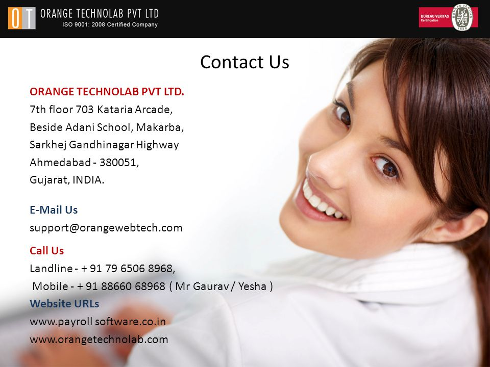 Contact Us ORANGE TECHNOLAB PVT LTD.