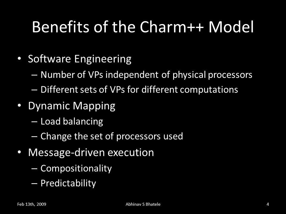 Charm++ and CSE Applications Feb 13th, 20095Abhinav S Bhatele Gordon Bell Award, SC 2002 Fine-grained CPAIMD Cosmological Simulations