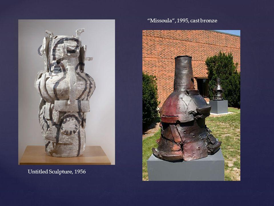 Untitled Sculpture, 1956 Missoula , 1995, cast bronze