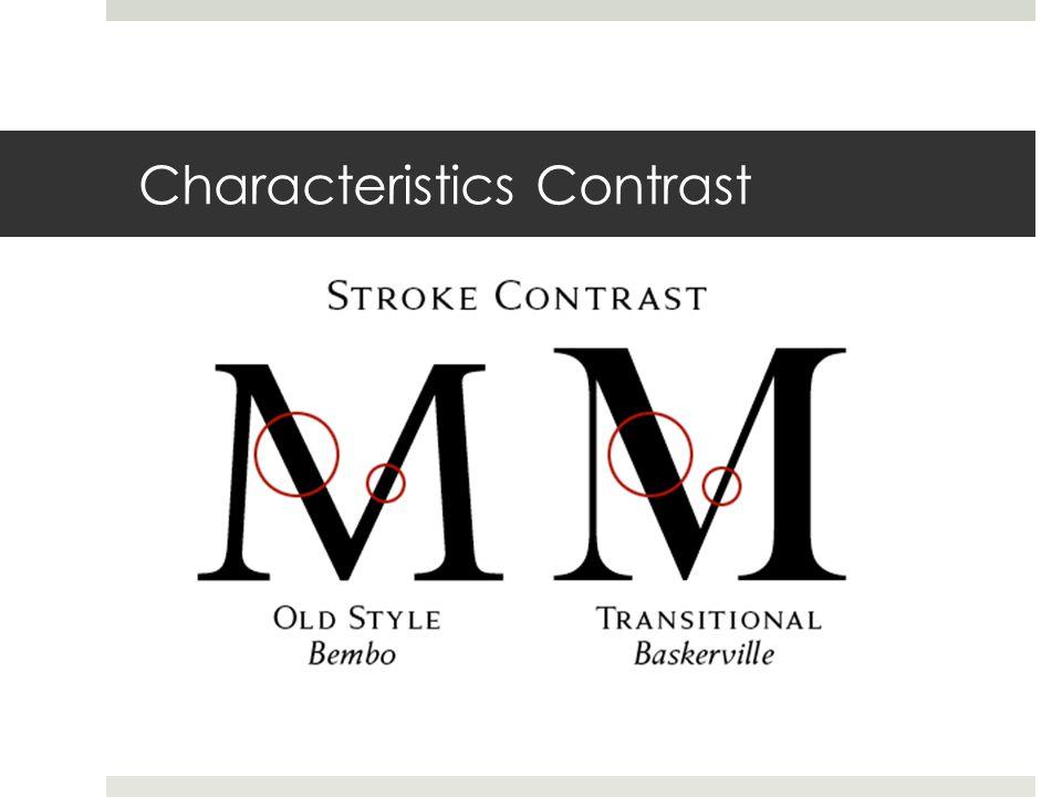 Characteristics Contrast
