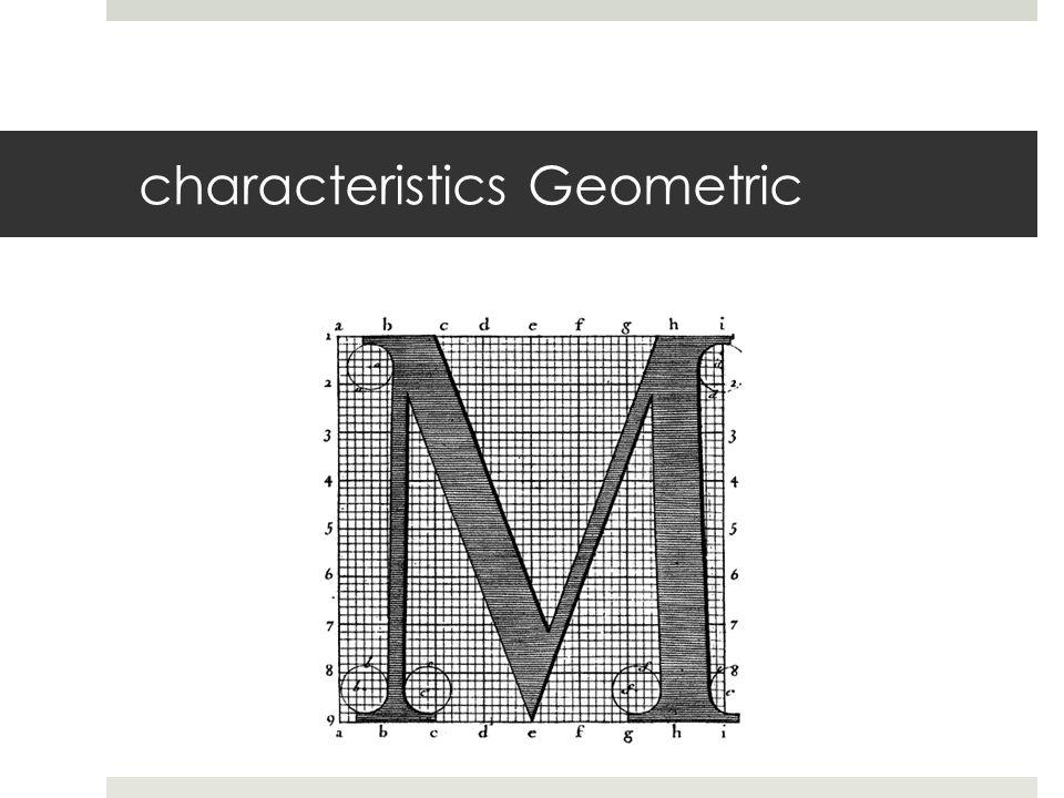 characteristics Geometric