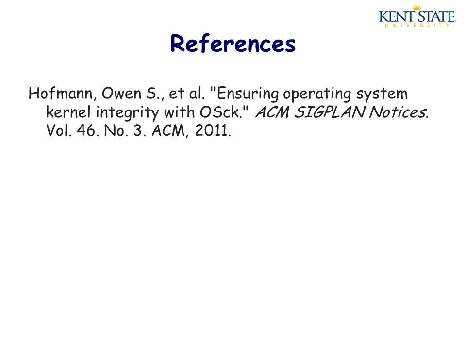 References Hofmann, Owen S., et al.