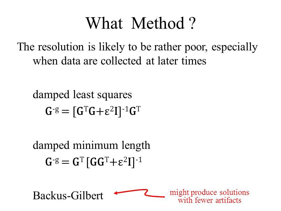 What Method .